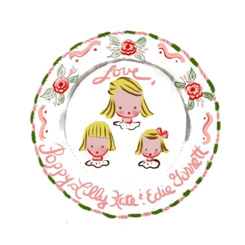 Multiple Children Sticker Gift Tags - Pink Bunnies