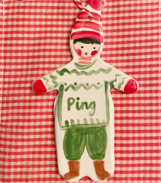Christmas Boy Ornament - green