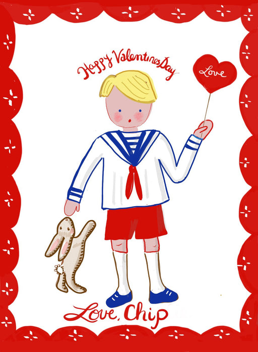 Valentine Cards - Boy with Sailor Shirt