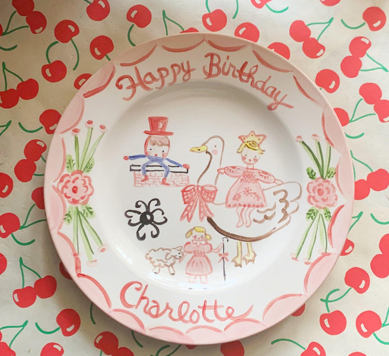 Birthday Plate - Nursery Rhymes