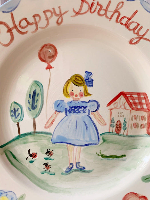 Birthday Plate - Blue Dress