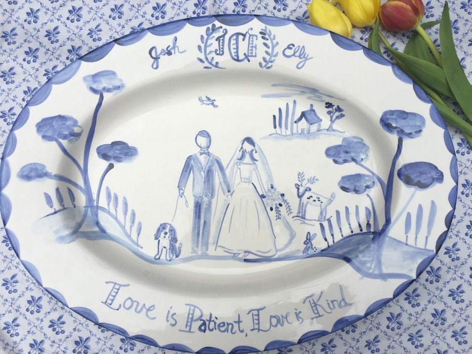 Large Custom Platter - Love is Patient, Love is Kind