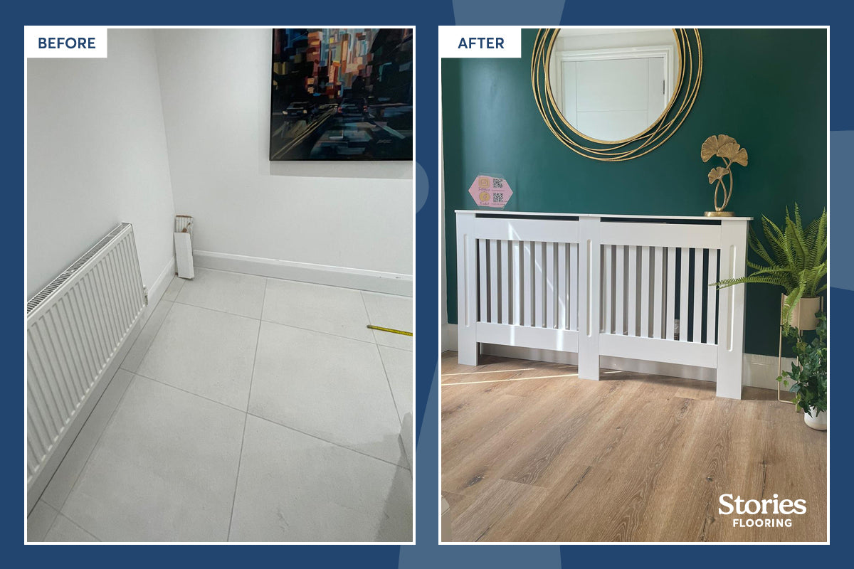 Creative Cottage Before & After Our Bentley Portofino Rigid Core Voyager Oak SPC Flooring Was Installed