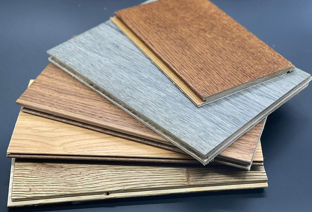 What are the different engineered wood flooring grades?