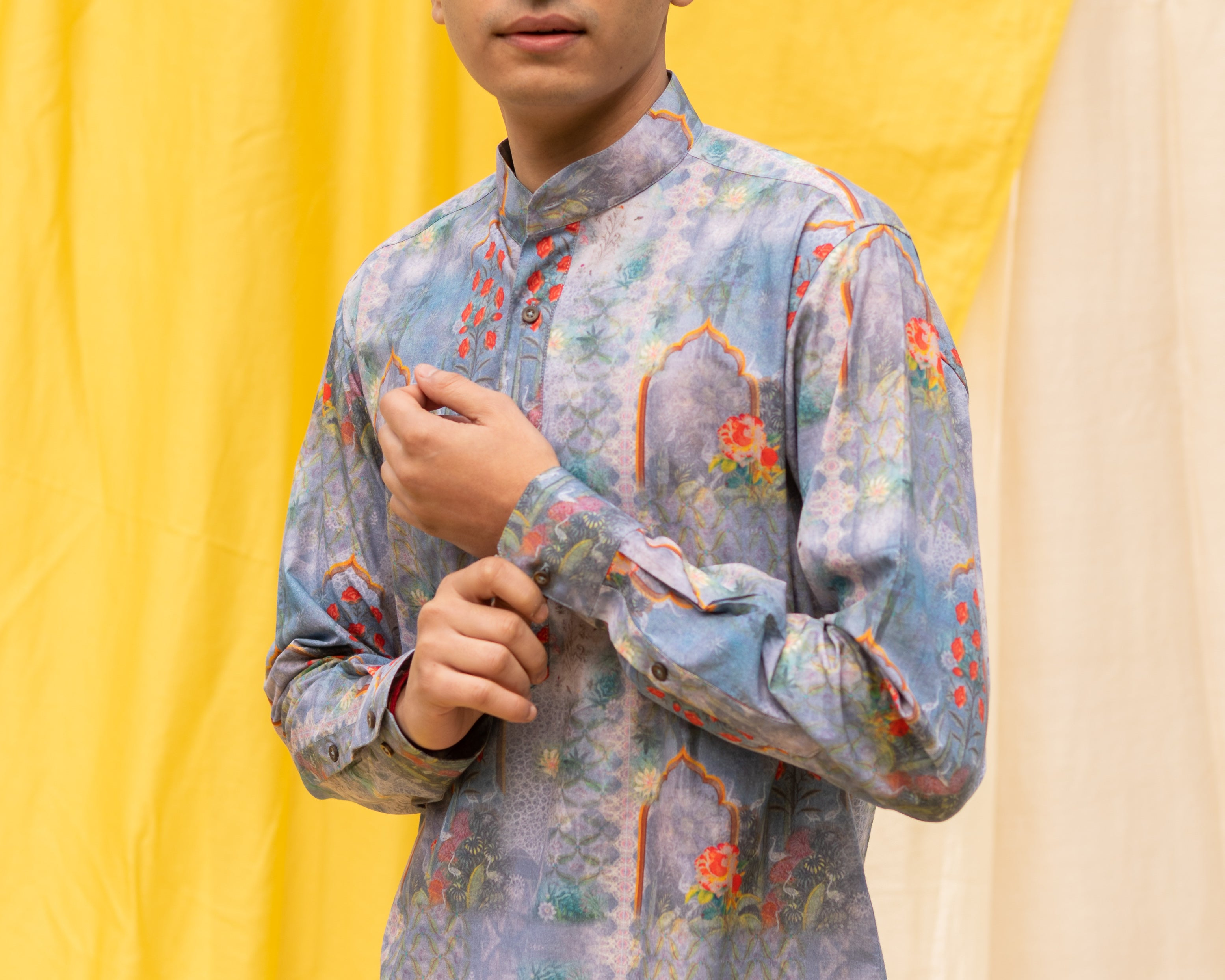 Boozy Boys Blue Printed Shirt