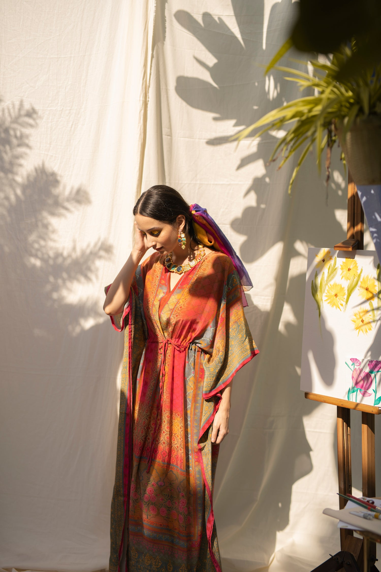 Dreamy Banarasi Winter Kaftan