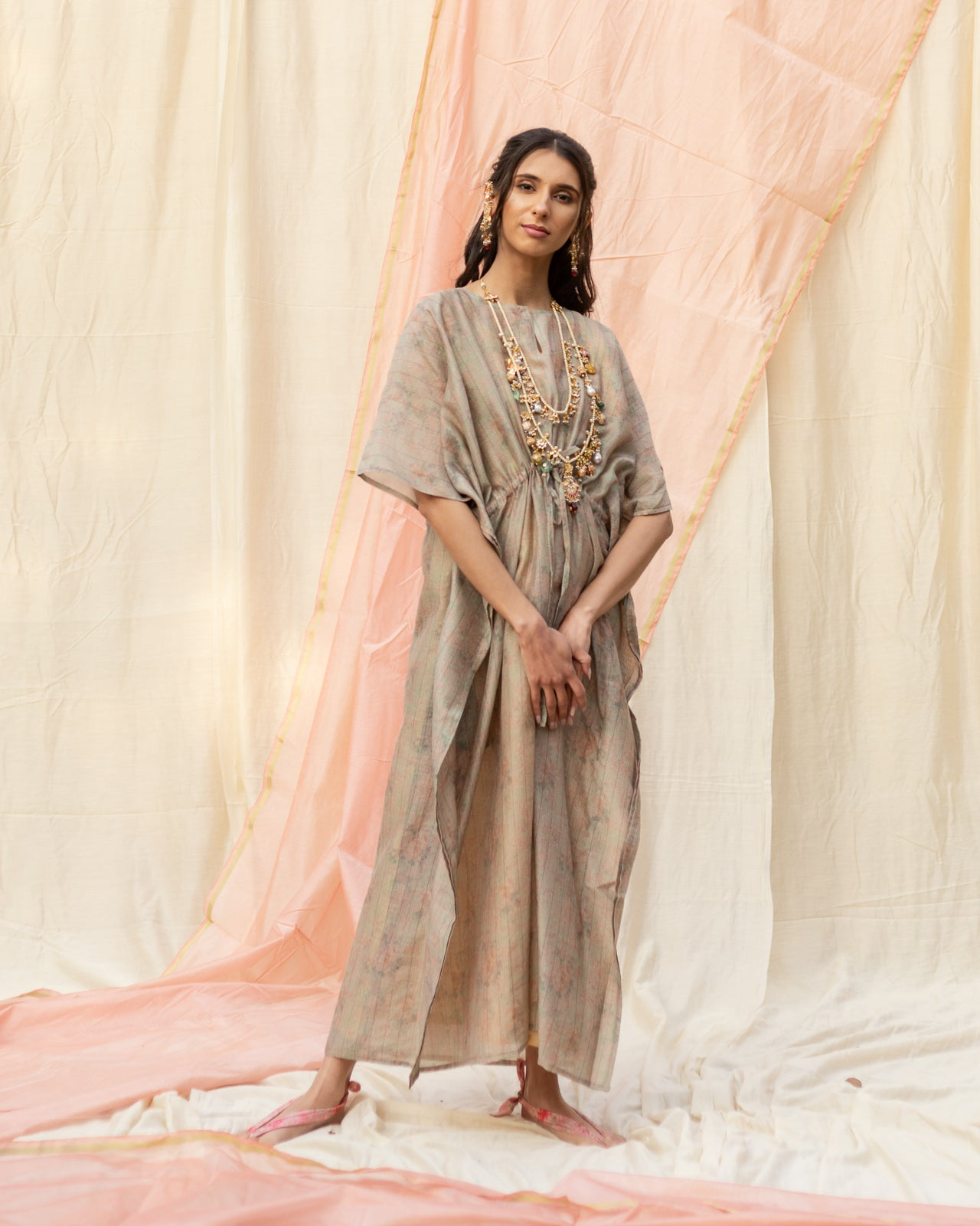 Light Grey Cotton Kaftan
