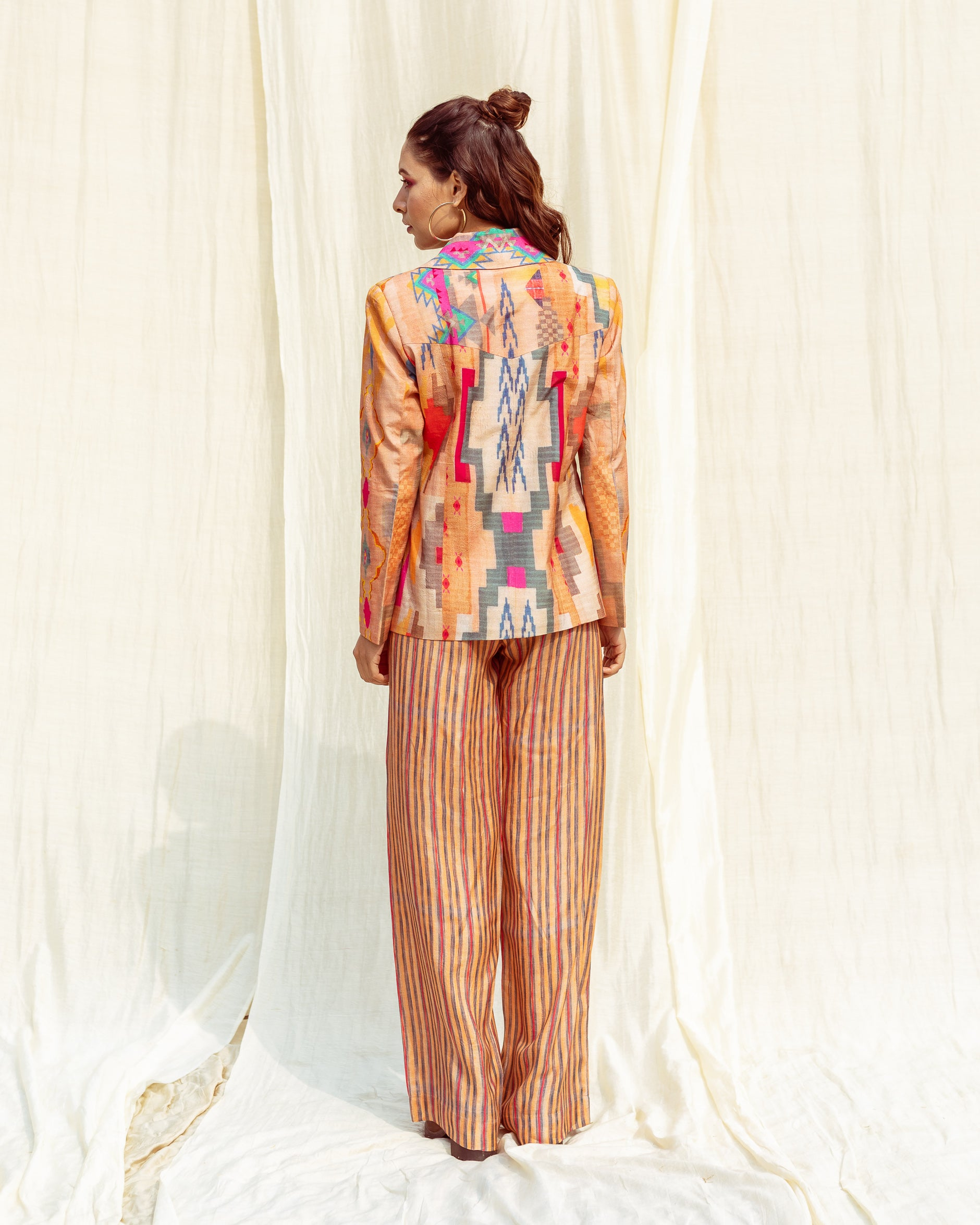 The Caravan Luxury Printed Coat Pant