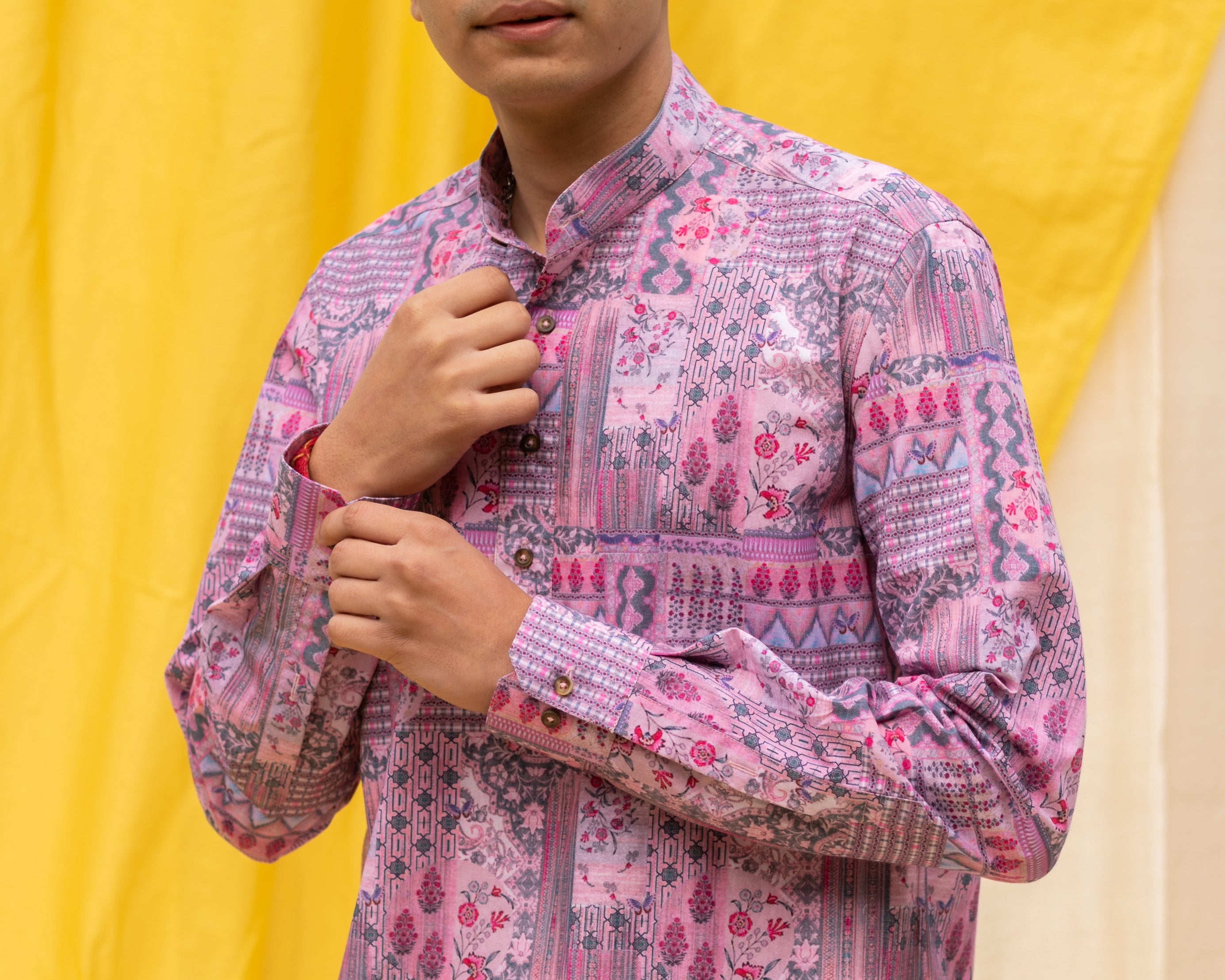 Boozy Boys Violet Resort Style Shirt