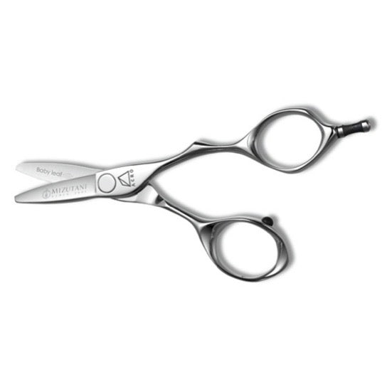 Small, Acro Baby Leaf scissors feature a full size handle with short Leaf blades