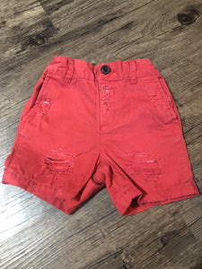 9/12M RED BOY SHORTS