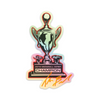 Holographic Snowball Derby Trophy Sticker