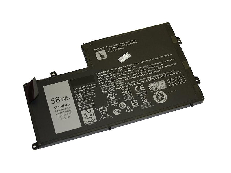 Powerwarehouse PWH-0PD19 4-cell 7.4V, 7600mAh Li-Ion Internal Notebook Battery for DELL Inspiron 15 (5547), 15 (5548), 14 (5447), 14 (5448); Latitude 3550, 3450