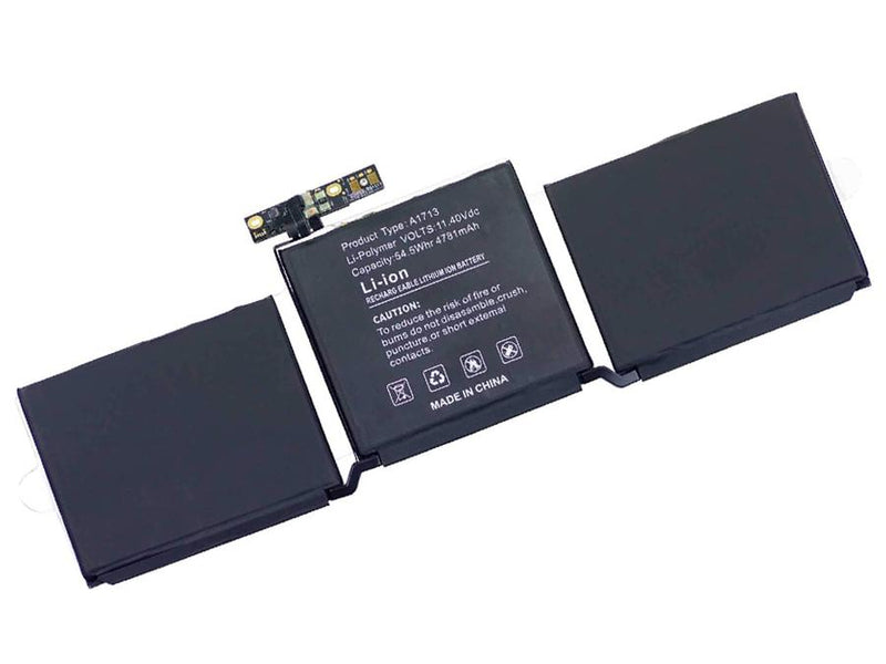 Powerwarehouse PWH-A1713  6cells, Li-Polymer notebook battery for Apple Macbook Pro 13 IN A1708 (EMC 3164), 13 IN A1708 (EMC 2978), 13 IN A1708 LATE 2016, 13 IN A1708 MIDE 2017, MLL42CH, MLUQ2CH