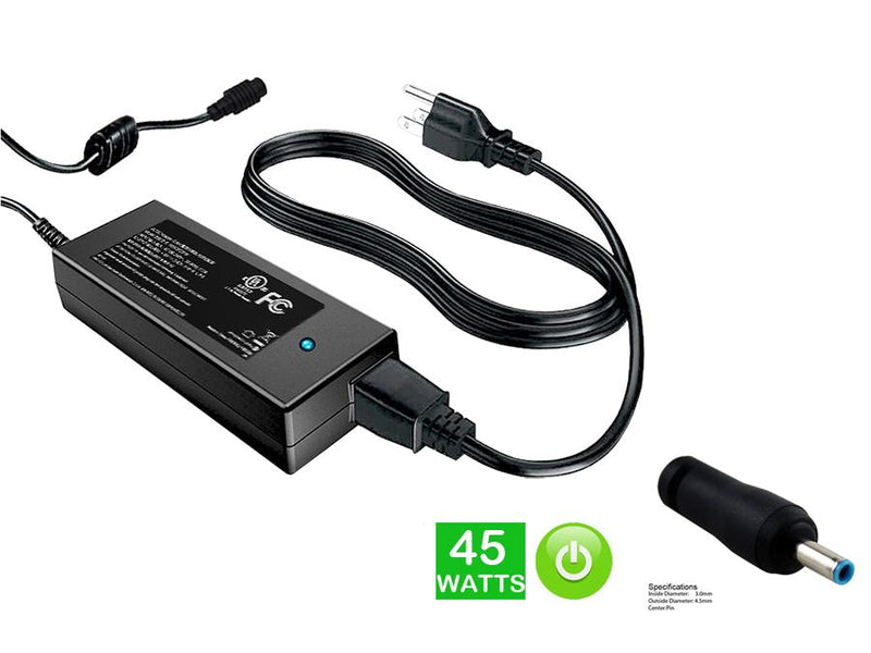 Powerwarehouse PWH-AC-1940135 19V, 40W AC Adapter for HP ENVY 13,  13-1000,  13-1100