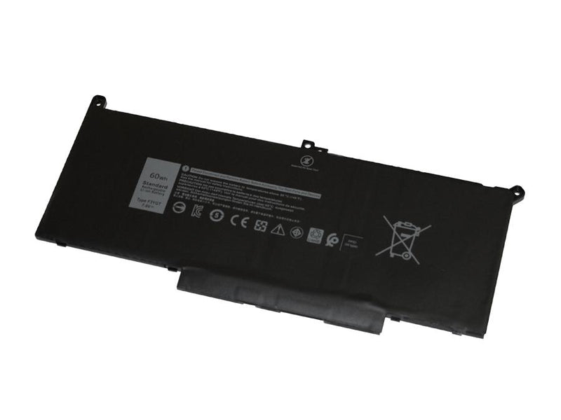 Powerwarehouse PWH-F3YGT 4-cell 7.6V, 7894mAh LiPolymer Notebook Battery for DELL Latitude 7280, 7480