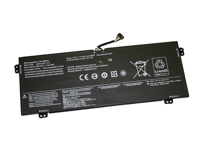 Powerwarehouse PWH-L16L4PB1 4-cell 7.72V, 6217mAh Li-Polymer Internal Notebook Battery for LENOVO Lenovo Yoga 720-13IKB
