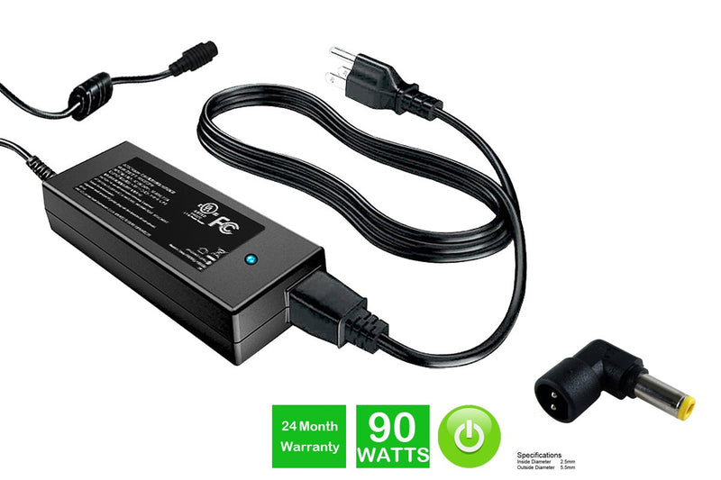 Powerwarehouse PWH-PA5034U-1ACA 19V, 90W AC Adapter for AC Adapter w/ C103 tip for various OEM notebook models