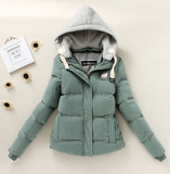 Hooded Long-Sleeve Zipper Pocket Parka Coat green