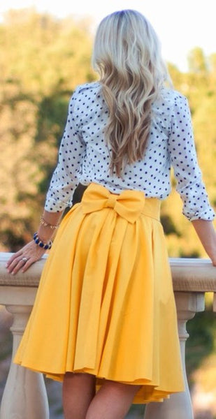 A99945 Three Color Bowknot Skirts
