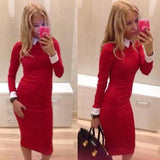 On Sale HOT CUTE ELEGANT LONG SLEEVE DRESS