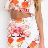 CUTE FLOWER TWO PIECE DRESS