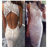 Hot Backless Lace Long Dress