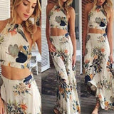 TWO-PIECE PRINTED DRESS HOT