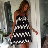 HOT BLACK TASSEL DRESS