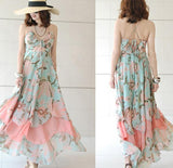 IRREGULAR CUTE CHIFFON DRESS