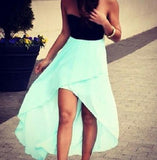 HOT STRAPLESS MINT GREEN HOMCOMING  DRESS  HIGH QUALITY