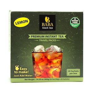 Baba Black Tea - Premium Darjeeling Instant Black Tea with Lemon - 20 Pack