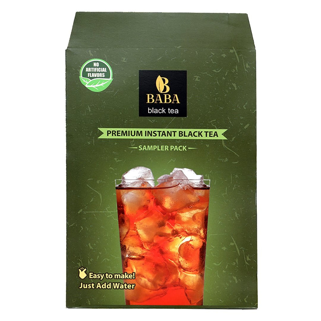 Baba Black Tea - Premium Darjeeling Instant Black Tea with Strawberry - 4 Pack