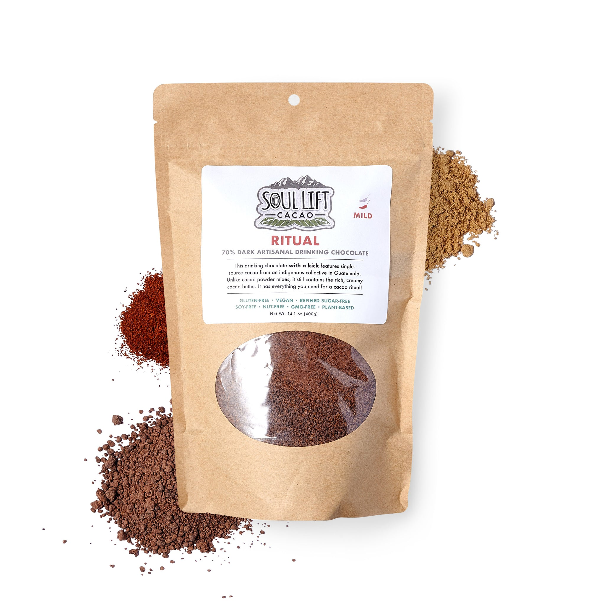 Ritual 70% Dark MILD Spice Drinking Chocolate Mix