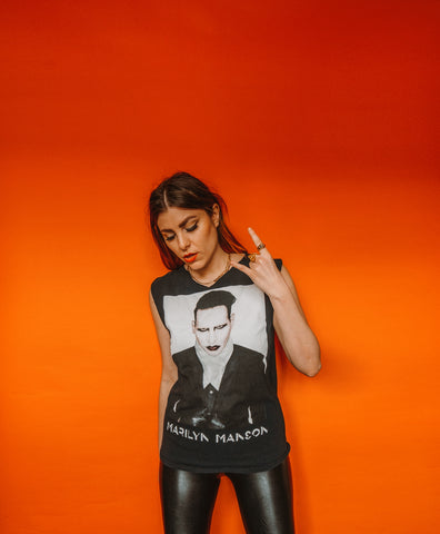 Marilyn Manson Cut Off Tee