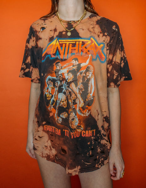 Anthrax Distressed Bleached Tee
