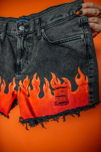 Flames Shorts High-Rise Size (10)