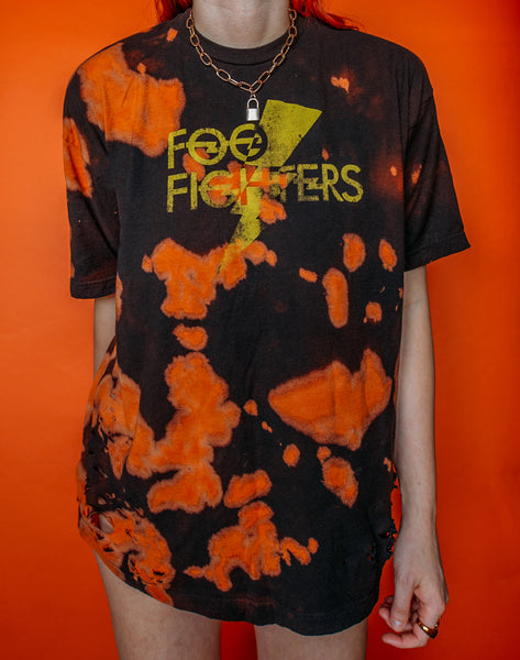Foo Fighters Bleached And Distressed Tee