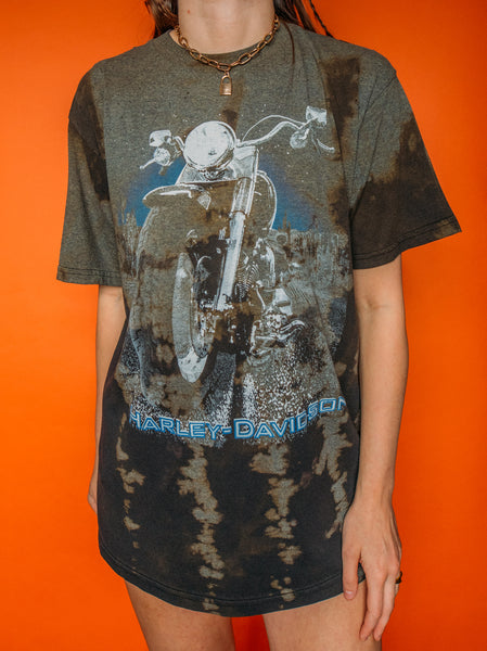 Harley Bike Inverted Bleach Tee (XL)