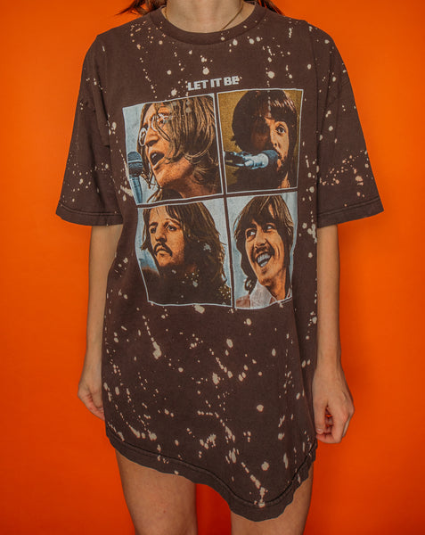 The Beatles Let It Be Brown and Bleached Tee (2X)