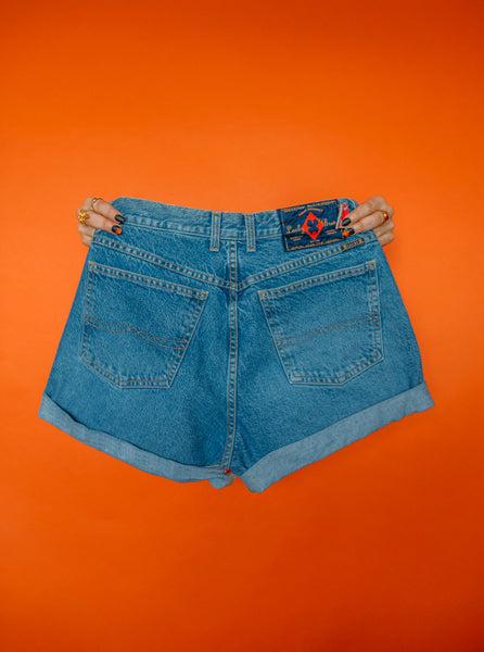 Flames Shorts High-Waisted  Size (10)