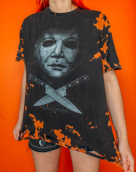 Michael Myers Bleached And Distressed Hem Tee