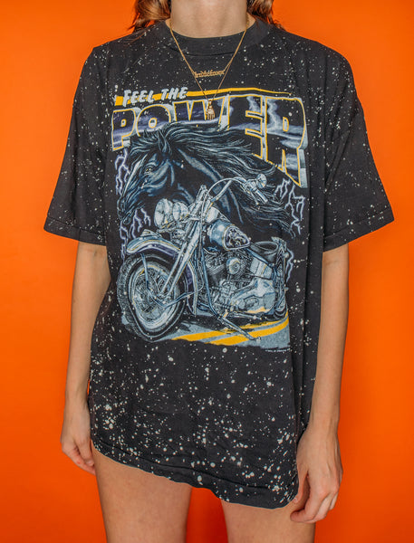 Feel The Power Speckled Tee (XL)
