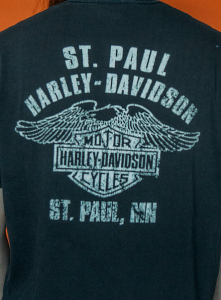Tiger Harley Davidson Lightly Distressed Tee