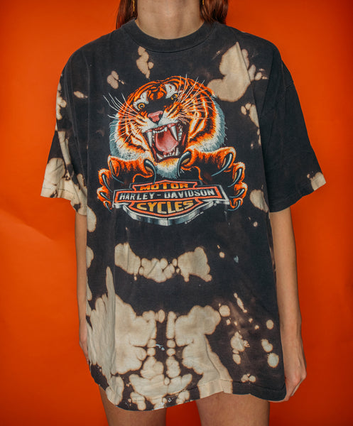 Super Rare Tiger Harley Bleached Tee