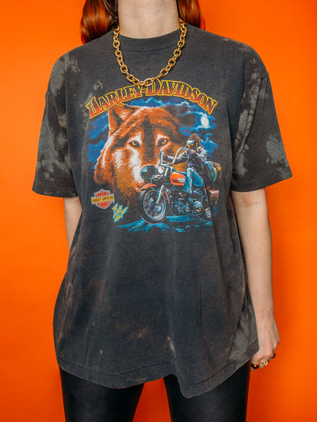 The Lone Wolf Harley Davidson Bleached Tee