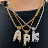 Iced Out Bling Cubic A-Z Drip Crown