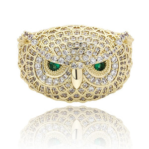 Iced Out Owl Ring