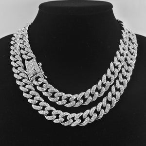 Iced Out Silver Miami Cuban Link