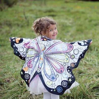 Colour Butterfly Cape with markers